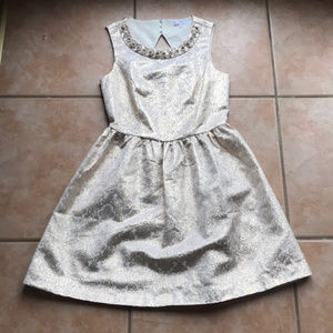 Romeo + Juliet Couture Gold Pearl Dress Small